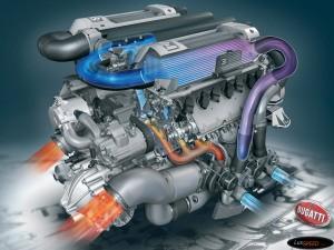 Двигатель автомобиля Бугатти Вейрон